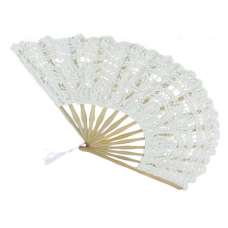 10 Pieces / Wedding White Or Lace Fan Wedding Hand Fan Bride Party Gift Hand Fan Lace Hand Fan For Wedding Gift