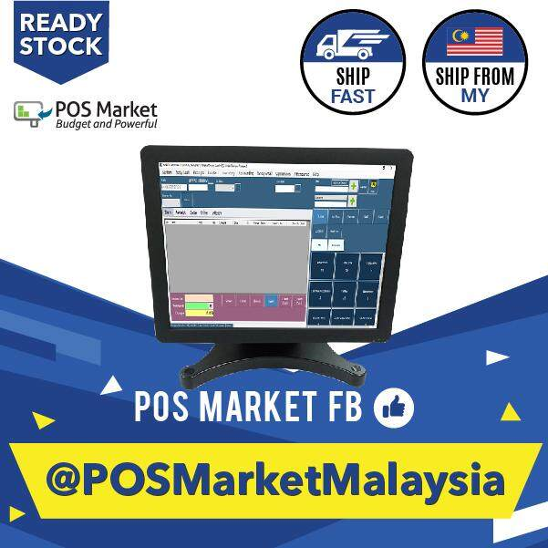 POS System 15 Inch Touch Screen Monitor Metal Stand Ready Stock Malaysia