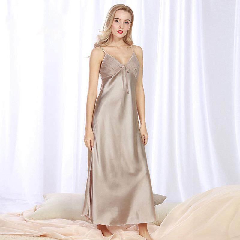 Summer Long Nightgowns Women Sleepshirts Sleepwear Sleep Lounge Night Slips Dress Elegant Nightwear