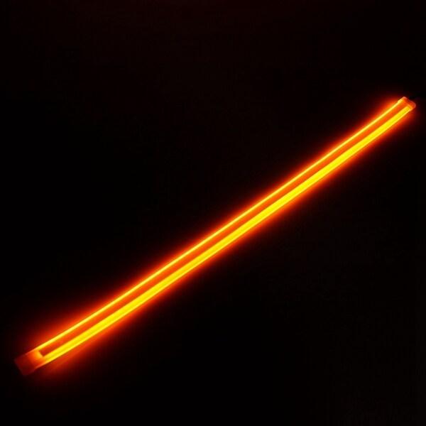 2 Cái Mềm Ống Dẫn Hướng Dẫn Dải LED Màu Xanh Đến Vàng Chảy Bật Đèn Tín Hiệu 45CM