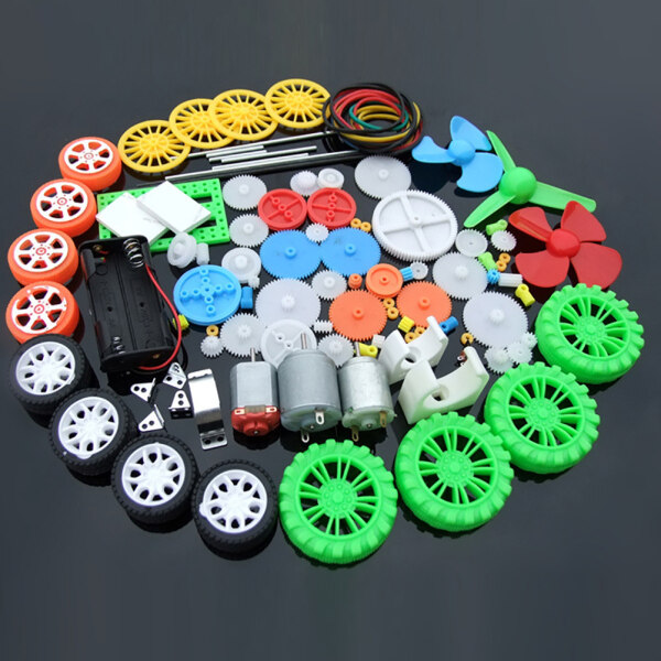 [Ahomea] ready stock 112Pcs DC Motor Kit Electric Mini Motor with Plastic Gears Motor Mounting Bracket Shaft Propeller for DIY Science Projects