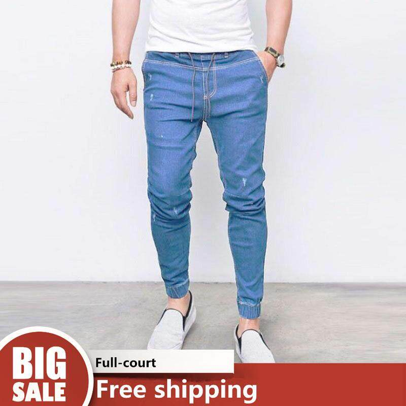 8536cc526 WJKFGI Men Vintage Casual Jeans for men Joggers Pants【READY STOCK - High  Quality 】