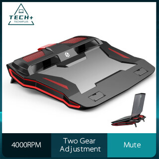 TECHAPLUS Laptop Cooling Pad Cooling RGB Stands Laptop Cooler Laptop Radiator Computer Base 4000 RPM Fan High-Speed Silent 2 Gear Height Adjustment Suitable for All Laptops Under 18 Inches thumbnail