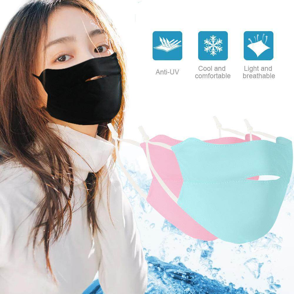 Hastra Sunscreen Silk Ice Face Mouth Face Mask UV Protection Mask Men Women Summer Fine Neck Section Riding Breathable Umbrella D30