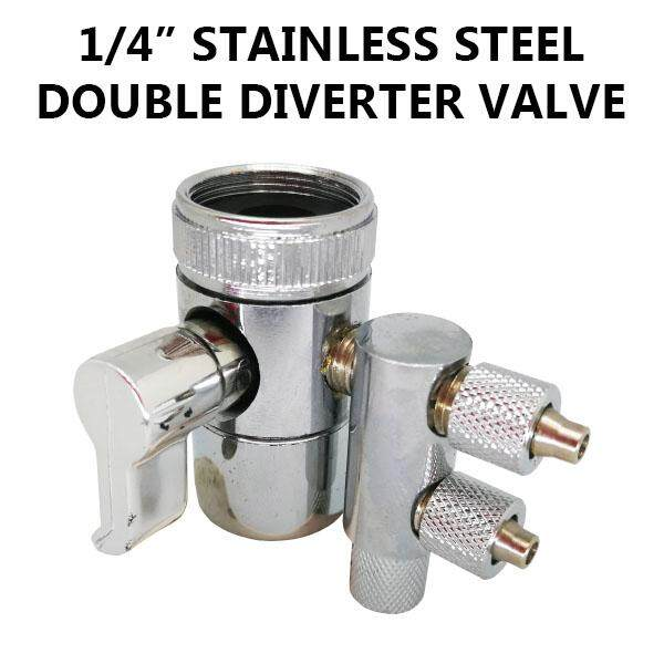 1/4 Stainless Steel Double Diverter Valve By Good Sales Online.