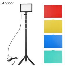 Andoer Bộ Đèn LED Video USB Hạt Đèn Chụp Ảnh 3200K-5600K 120 Chiếc 14-Mức Độ Thay Đổi Độ Sáng Với Chân Đế Ba Chân Có Thể Điều Chỉnh Độ Cao 148Cm/58in 5 Bộ Lọc Màu Trắng/Đỏ/Vàng/Xanh Lá Cây/Xanh Dương Đế Giày Lạnh Để Phát Trực Tiếp Video