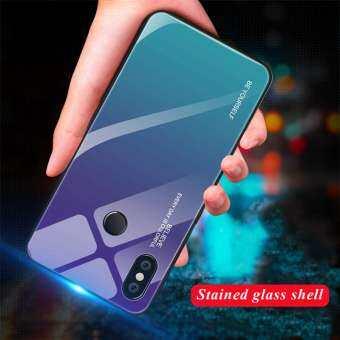 Gradient กระจกเทมเปอร์ Soft EDGE ฝาหลังสำหรับ Xiaomi Redmi หมายเหตุ 5 Pro ฝาครอบป้องกัน