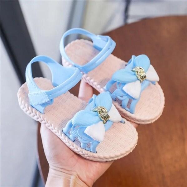 Giá bán HolidayFashion Xăng Đan Trẻ Em Bé Gái, Giày Đế Mềm Đi Biển Công Chúa Cho Bé Gái Thời Trang Mới Mùa Hè 2021 1AX0004
