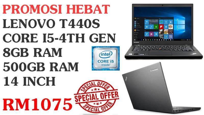 PROMOSI HEBAT LENOVO T440S  CORE I5-4TH GEN 8GB RAM  500GB RAM  14 INCH Malaysia