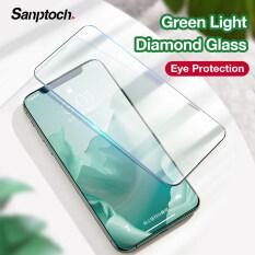 Kính cường lực bảo vệ màn hình kim cương sanptoch, phim bảo vệ mắt toàn diện cho iPhone 11 Pro Max XR x XS max 6 6S 7 8 Plus SE 2020