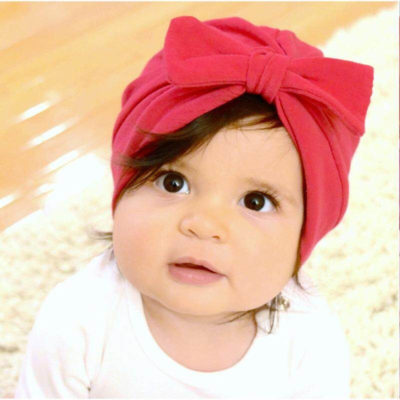 ee66b33483b06 Baby Hat Soft Turban Bowknot Cotton Girls India Hat Solid Color Children s  Hat