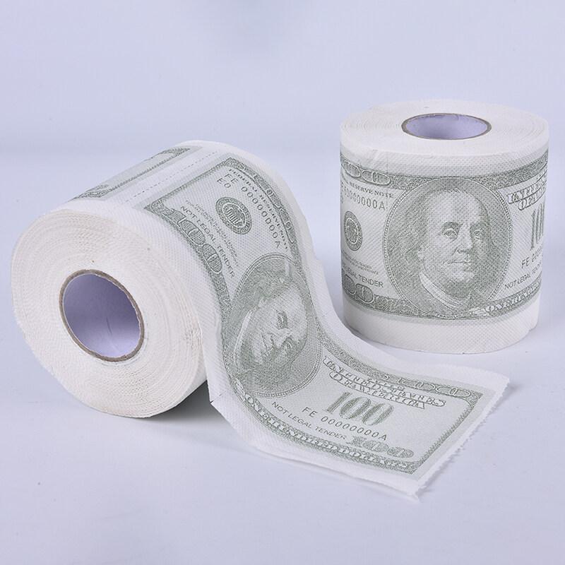 Up Top Dollar Bill Printed Toilet Paper America Dollars Tissue Novelty 100 Gag Gift Lazada Singapore