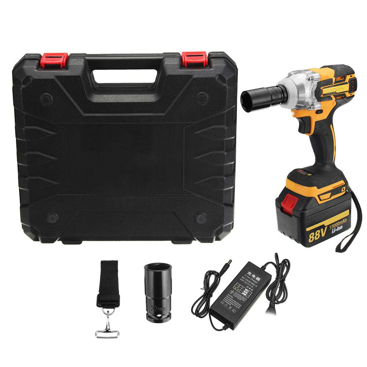 88V 15000mAh 2 Li-Ion Charger Brushless Cordless Drive Impact Wrench