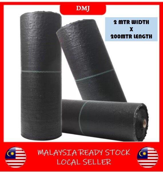READY STOCK 2MTR X 200MTR(L) WEED MAT PLASTIK PELAPIK TANAH BUMI MENCEGAH DARI RUMPUT DAN RUMPAI