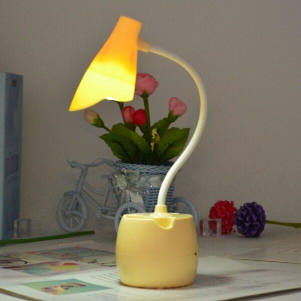 Giá Đỡ Điện Thoại Di Động Hình Hoa Đèn Led Để Bàn Bảo Vệ Mắt, Cạnh Giường Ngủ Đêm Đèn, Sinh Viên Bàn Đèn