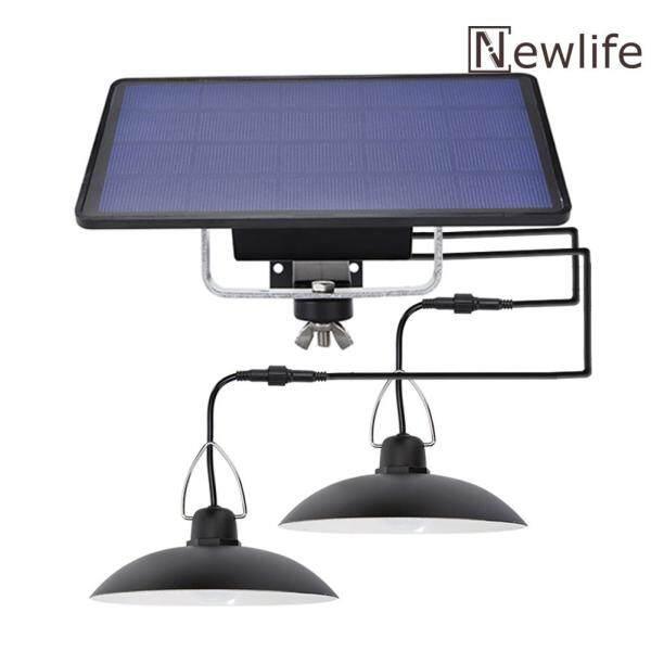 [Miễn Phí Vận Chuyển + Giá Xuất Xưởng] Đèn Treo LED Năng Lượng Mặt Trời Hai Đầu Đèn Sân Vườn Chống Nước IP65 Ngoài Trời