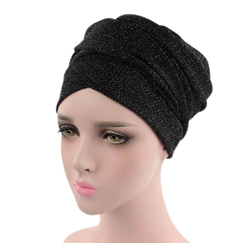 Muslim Woman Net Yarn Bowknot Retro Cap Scarf Beanie Hat Head Scarf Wrap Ramadan