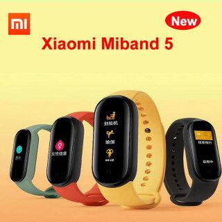 Vòng đeo tay thông minh Xiaomi Mi Band 5 phiên bản gốc Màn hình AMOLED đầy màu sắc năng động Theo dõi nhịp tim thể dục thể thao Bluetooth 5.0 Dây đeo thông minh không thấm nước thumbnail