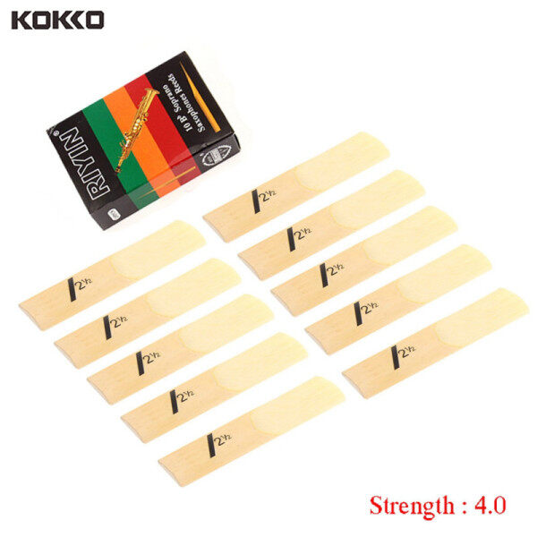Saxophone Reed Set Bb Tone 10pcs with Strength 1.5/2.0/2.5/3.0/3.5/4.0 for Soprano Sax Reed Malaysia