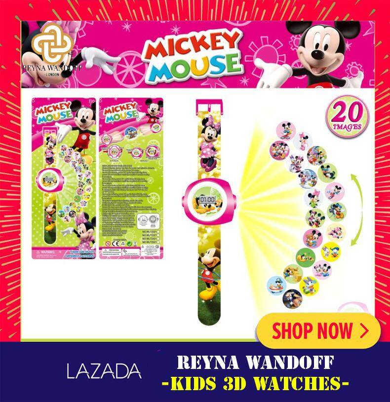Kids Cartoon 3D Projector Fun Rotary Watches Malaysia