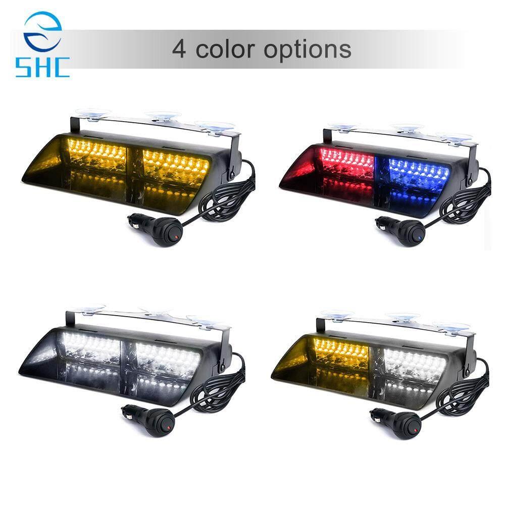 SHC 1 Pcs 16 LED 18 Model Berkedip 12 V Mobil Truk Darurat Flasher Dasbor Strobo Lampu Peringatan Hari Menjalankan Flash Lampu Polisi LED Putih