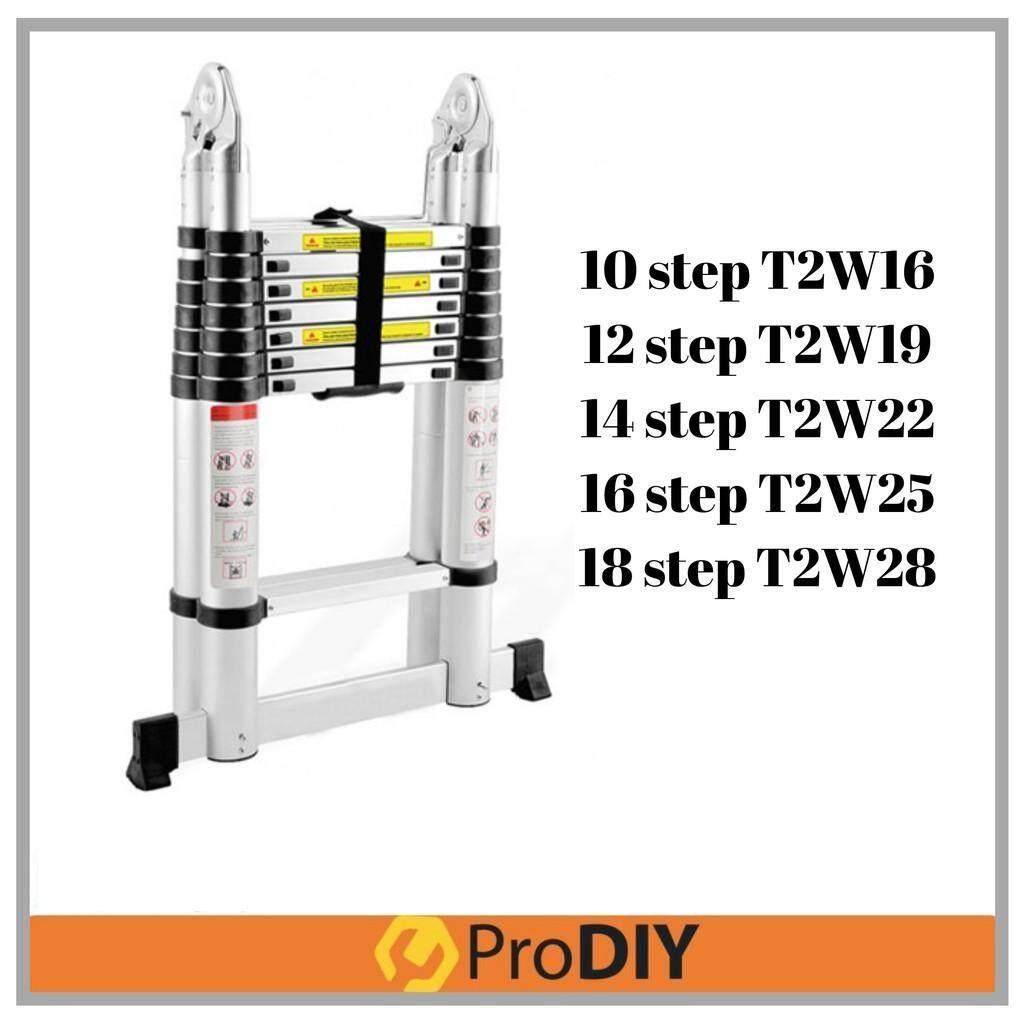 10/12/14/16/18 Steps Double-Sided Multipurpose Telescopic Extendable Aluminium Ladder