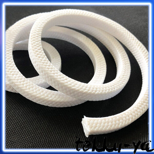 Teflon Braided Gland Packing Square Pure PTFE Packing 3.2mm 4.8mm 5.5mm 6.4mm 8mm 9.5mm 10mm 11mm 12mm 12.7mm 14mm 16mm 19mm 20mm 22mm 25mm