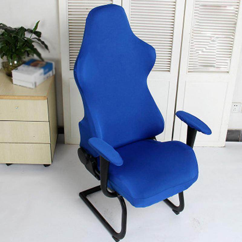 [Only Chair Cover]Office Computer Game Chair Cover,READY STOCK  Armchair Elastic Stretch Swivel Seat Gaming Chair Protector Slipcover Arm Rest Cover