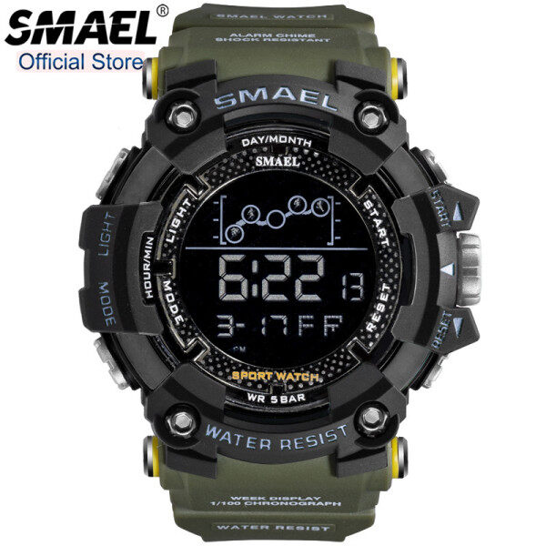 SMAEL Outdoor Running Sport Watches Men Water Resistant Shock Resistant Diver Digital Watch Alarm Chronograph Clock Male 1802 Malaysia