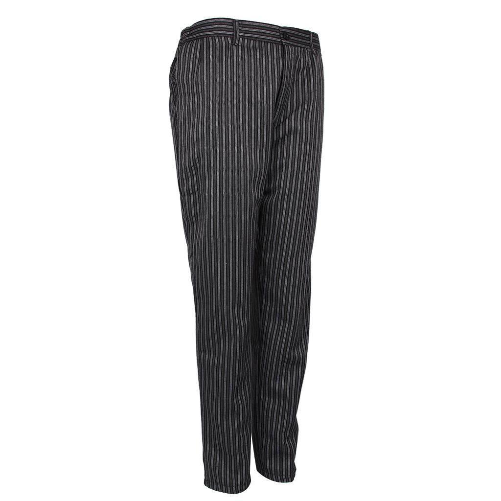Fenteer Restaurant Cafe Chef Waiter Pants Trousers Uniform