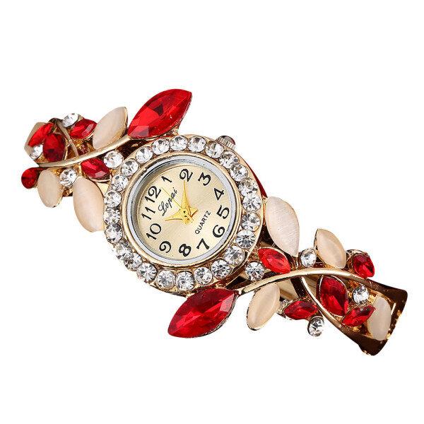 Luxury Flower Bracelet Watches Women Alloy Watchband Quartz-Watch Womens Dress Crystal Dial Wristwatch Lady relogio feminino Malaysia