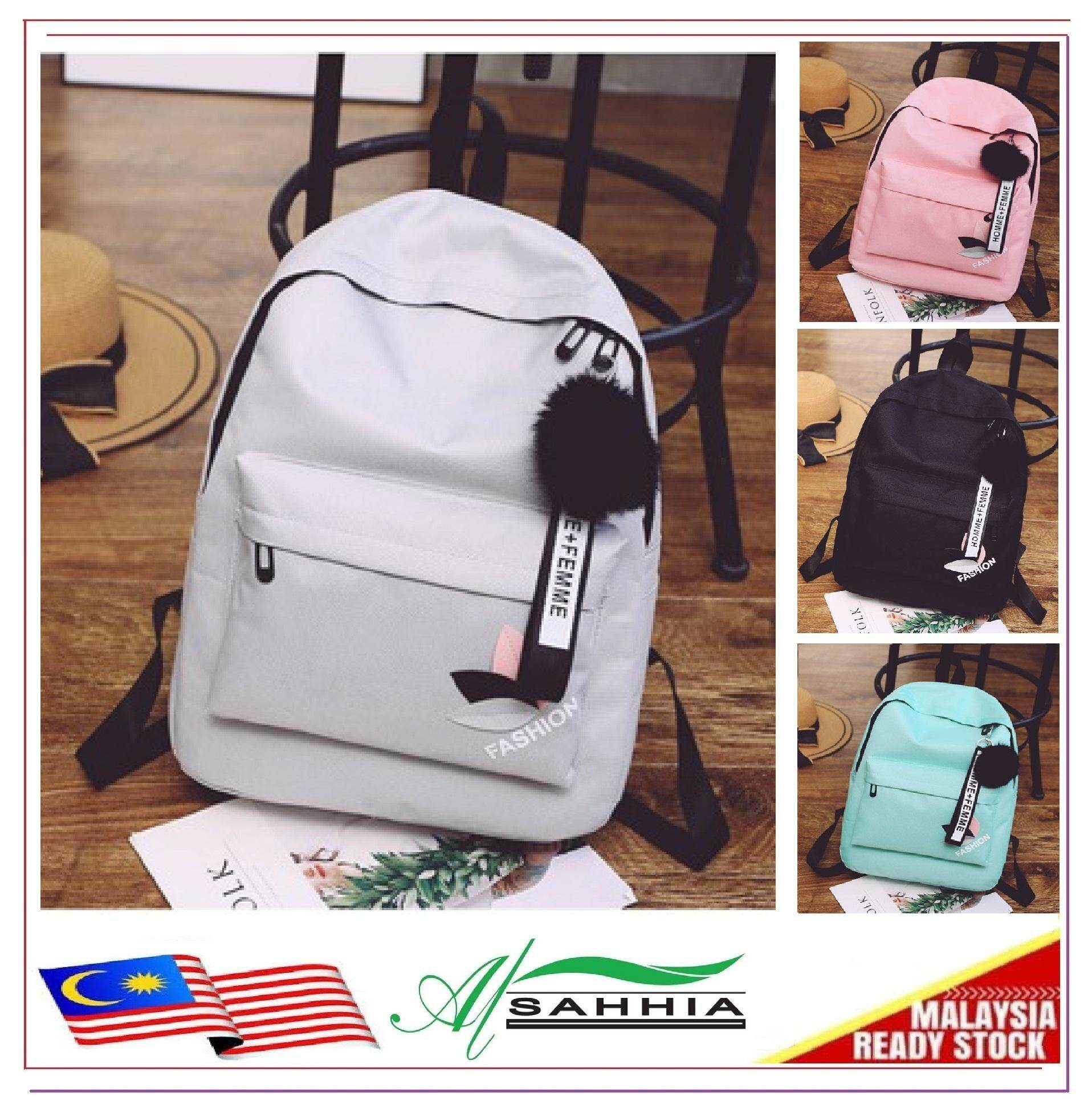 00b11aea43c8 Al Sahhia Ready Stock Korean Style Leaf Backpack Beg Casual Bag