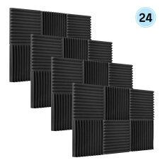 Muslady 24 Cái/gói Studio Acoustic Bọt Âm Thanh Xốp Cách Nhiệt Âm Thanh Hấp Thụ Tấm Cách Âm Miếng Bọt Biển, 30X30X2.5Cm/12X12 X 1in