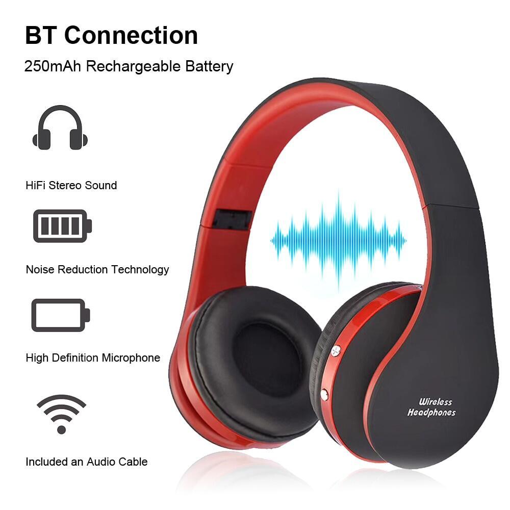 Tai Nghe BT Không Dây Mới Với Microphone, Chơi Game Tai Nghe Tai Nghe Nhét Tai Bluetooth Có Thể Gập Lại Cho Trẻ Em