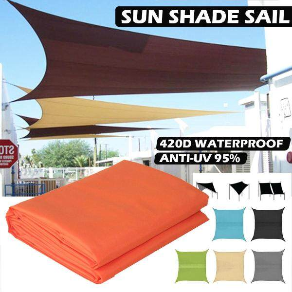 Multi-functional Sun Shade Sail Waterproof 420D Oxford Polyester Outdoor Garden Yard Plant Protection Canopy Cover Awning Square 2x2m