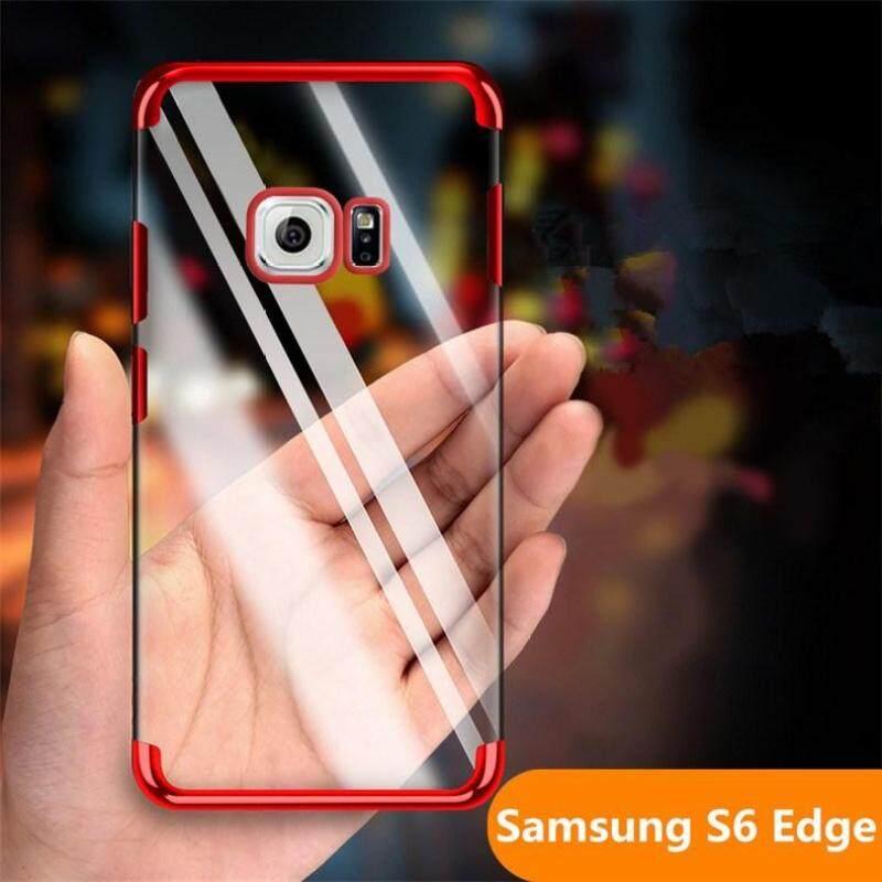 Giá Cho Samsung Galaxy S6 Edge/G925 Xi Mạ Trong Suốt Siêu Mỏng Mềm TPU dán Lưng Da Ốp Lưng