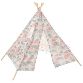 Lều Teepee Lớn Nhà Chơi Giả Vờ Vải Bố Cotton Cho Trẻ Em, Quà Tặng Cho Bé Trai Bé Gái thumbnail