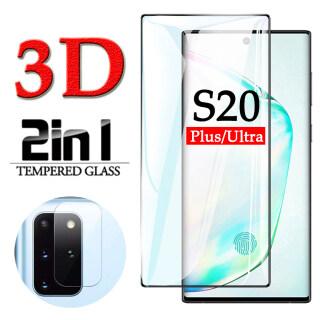 Miếng Dán Màn Hình Cho Samsung Galaxy Tấm Dán Bảo Vệ Màn Hình 2 Trong 1 Bằng Kính Cường Lực Cho Samsung Galaxy S20 Ultra Plus 5G thumbnail