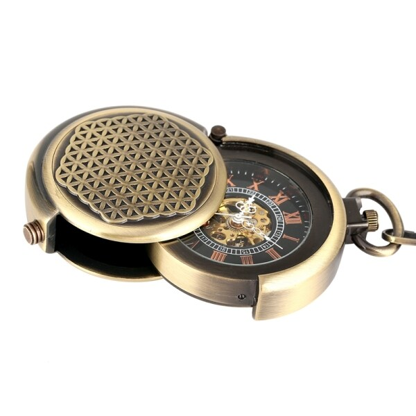 ㍿✐ Retro Antique Hollow Cover Unique Double Turntable Capping Hand Winding Mechanical Pocket Watch Men Steampunk Bronze 30cm Chain Malaysia