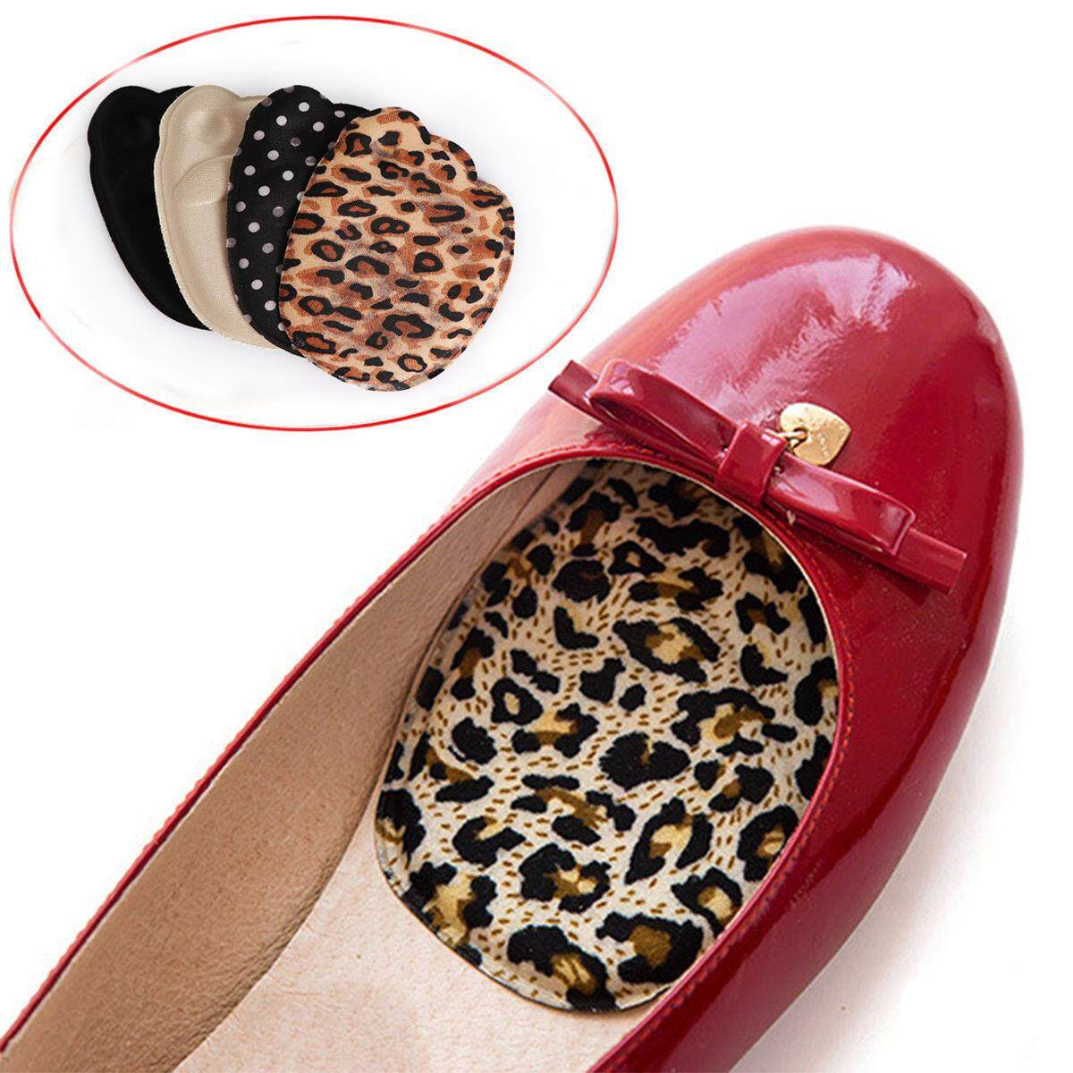 1Pair High Heel Foot Cushions Forefoot Anti-Slip Massage Silicone Insole