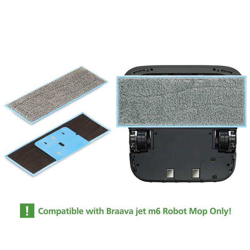Wet Mopping Pad Fabric Parts Accessories For iRobot Braava Jet Practical