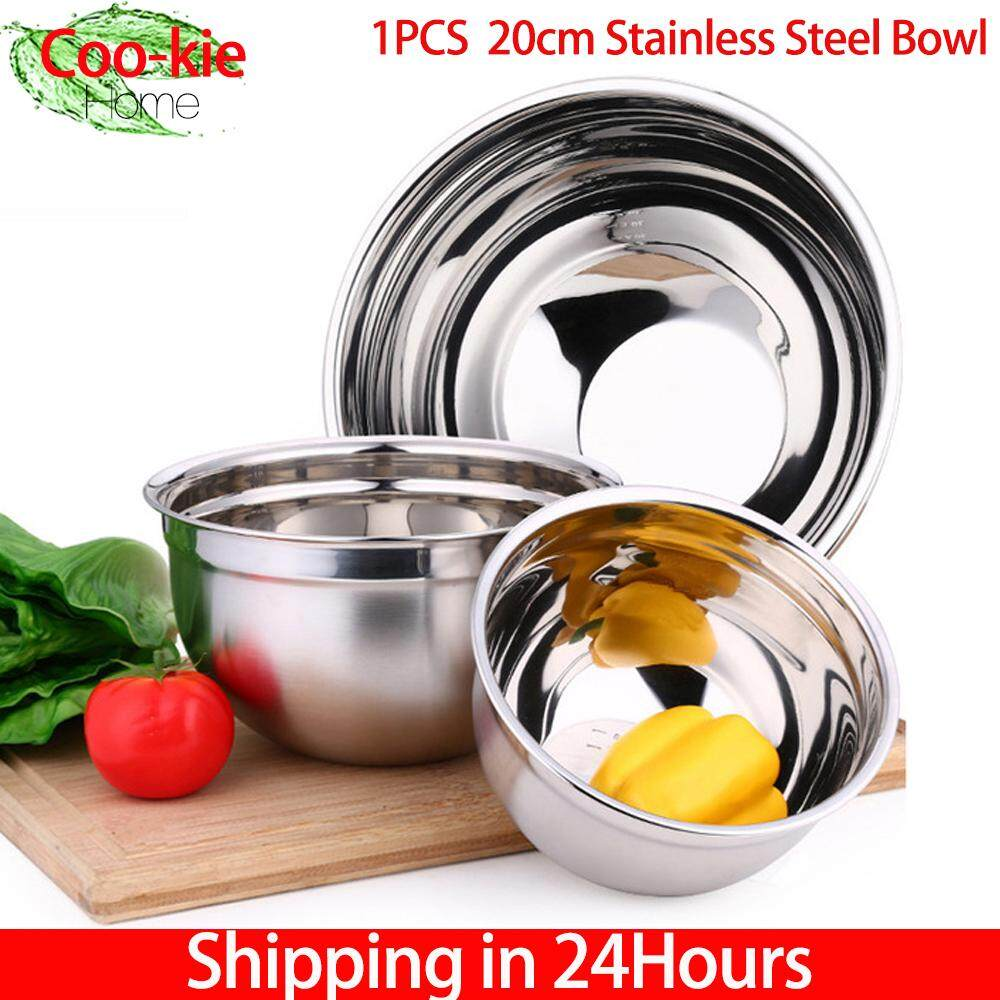 【time-Limited Promotions】stainless Steel Thicker Mixing Bowl With Lid Baking Salad Egg Bowls Kitchen Cooking Tools(20cm) By Cookie123.