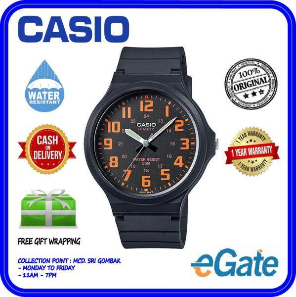 ( 2 YEARS WARRANTY ) Casio MW-240-4BV Analog Unisex Youth Design Large Case Easy-Read Black Resin Band Casual Original Watch (MW-240) Malaysia