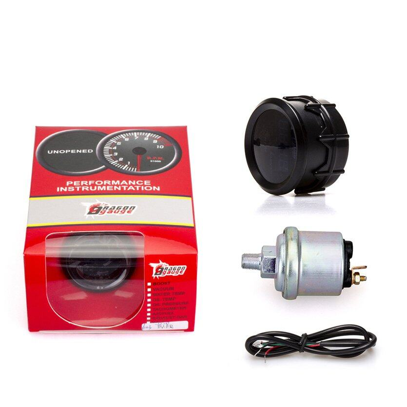 TOP (New) 52Mm Car Modification Instrument Oil Pressure Gauge Digital Display Meter With Oil Pressure Sensor 0~150Psi