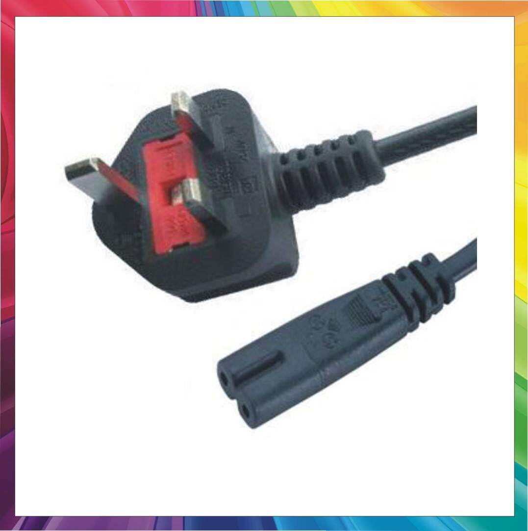 2 Pin Plug Power Cable for Laptop(Built In Fuse) No Ratings