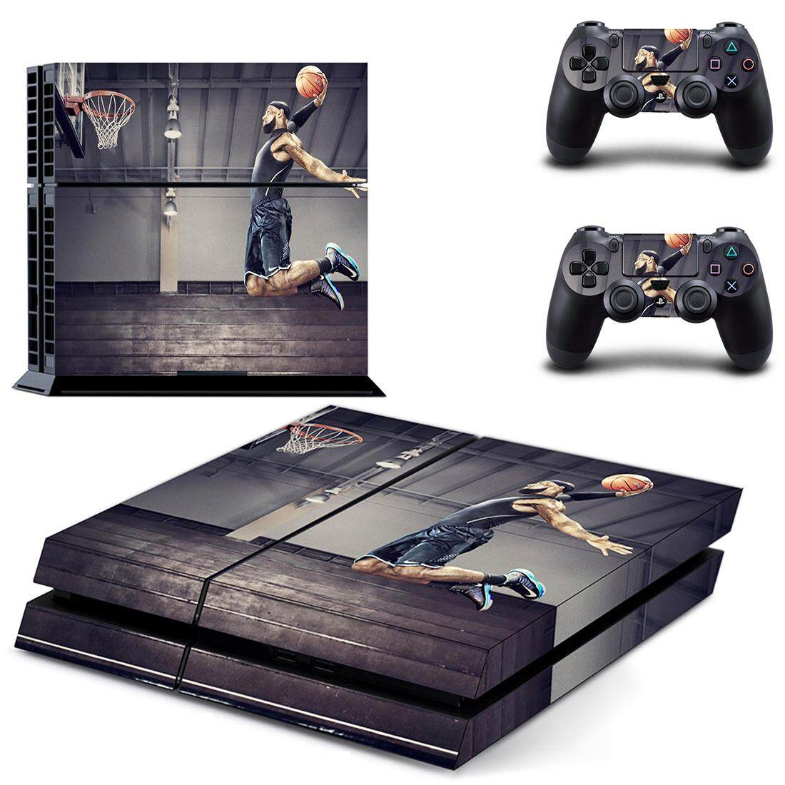 Basketball Superstar Style Decal Skin Sticker for PS4 Playstation 4 Console  Protection Film + 2Pcs Controllers Protective Cover DPTM2378