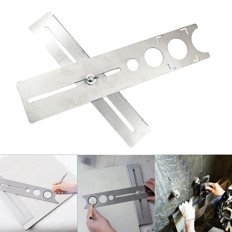 4ool Adjustable 400mm Stainless steel Universal Hole locator 1pc Tile Glass Marking Puncher