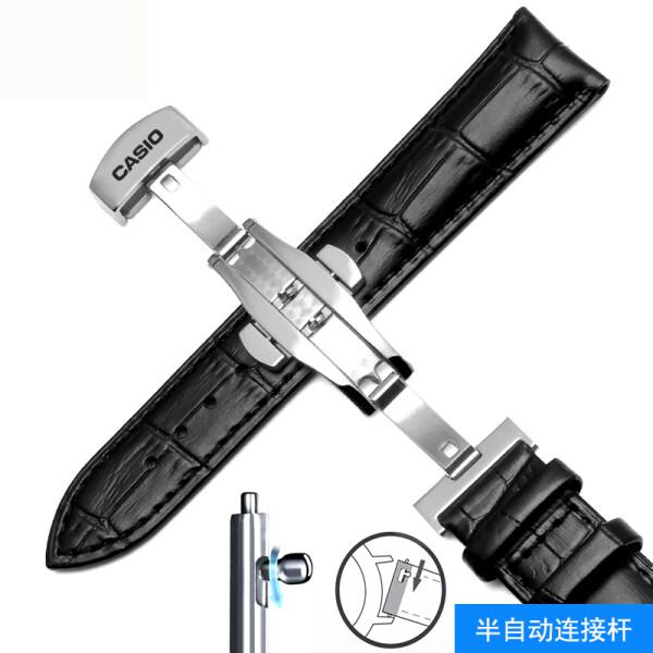 Casio Strap Original Mens Watch Chain Accessories Genuine Leather Women501 506Calfskin20 22mmBlack Brown Malaysia