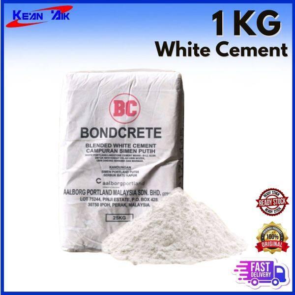 1 Kg Repacked Bondcrete White Cement ( Simen Putih)
