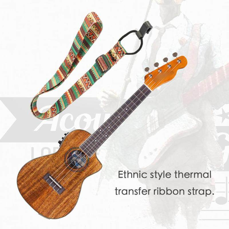 Colorful Ukulele Straps Thermal Transfer Ribbon Ethnic Style Practical Little Guitar Belt Musical Instrument Accessory Malaysia